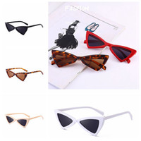7 Colors Cat Eye Sunglasses Triangle Frame Women Sun Eyeglas...