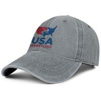 Stilvolle 2016 olympische Team USA Wrestling Logo Unisex Denim Baseballmütze Cool Best Mützen Rosa Brustkrebs Gay Pride Rainbow Goldene Flagge