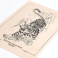 Prática tatuagem falsa pele Maquiagem Tiger Projeto Cosmetic Permanente pele 5PCS Prática Para acessórios iniciantes de tatuagem