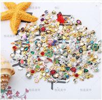 혼합 네일 스티커 네일 아트 3D 합금 금속 진주 크리스탈 개의 Tassels 장식 다이아몬드 핸드폰 석 반짝이 매력 보석 크리스마스