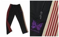 레트로 자수 스웨트 팬츠 패션 바지 바늘 망 바지 벨벳 사이드 줄무늬 가슴 17 캐주얼 나비 디자이너 색 XQMPM