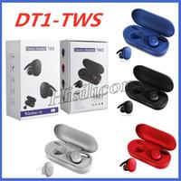 Smartphone İçin Yeni Geliş DT1 TWS DT1 Kablosuz Mini Bluetooth Kulaklık Cep Stereo Kulaklık DT1 Sport içinde Kulak kulaklık