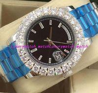 10 Art-Luxusuhren 18kt silbernes GOLD größeres DIAMANT-Anzeigetafel 228348 automatische Art- und Weisemänner passen Armbanduhr auf