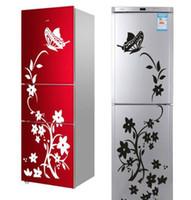 Kalite Yaratıcı buzdolabı Sticker Siyah Kelebek Desen Dekorasyon Ev Mutfak Duvar çıkartmaları Duvar duvar Sanatı