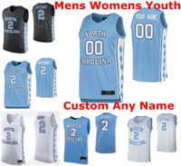North Carolina Tar Heels Jerseys Mens Cole Anthony Jersey Armando Bacot Leaky Black Garrison Brooks Ellis NCAA Jerseys Personalizar