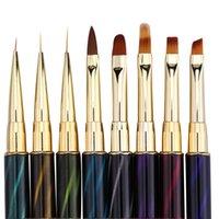 Nail Art Dotting Tools penna pennello Gel UV Pennelli Polacco Disegno Pittura Punti Penna Manicure Accessori per unghie Design