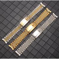 Argent Or Montre en acier inoxydable bande Bracelets fin courbé Bracelet Pour Montre Rolex