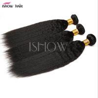 Sıcak satış 8-28 inç Brezilyalı Virgin Remy İnsan Saç Gevşek Dalga Yaki Düz Derin Kıvırcık Vücut Dalga Düz Renk fzp200