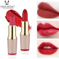 Lip Gloss Set Lipstick Set Makeup Bullets Vattentät Matt Fröken Rose Läppstift Kosmetika Försäljningsprodukter Nutrition Godd Sexig