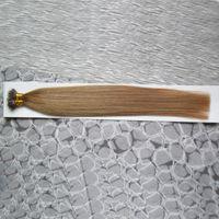 Cabelo Virgem Brasileiro 100g Remy micro contas extensões de cabelo em nano anel links cabelo humano em linha reta 100 peças