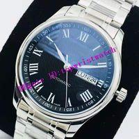 Nueva Maestro para hombre reloj de la colección ETA 2836 mecánico automático para hombre del reloj de cristal de zafiro 28800 VPH Fecha y visualización de día acero 316L