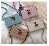 Kids Purses 2019 Newest Korean Cherry Accessories Cute Straw...