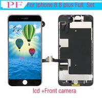 Grado A +++ LCD per iPhone 8 8 Plus OEM rimontaggio della visualizzazione Full Screen Set Digitizer Assembly 3D Touch con fotocamera frontale + ricevitore telefonico