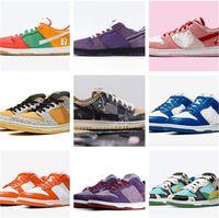 Com Caixa SB Dunks Chunky Dunky Ben Leite Jerry's Sorvete Sapatos Casuais Dia dos Namorados Ginásio Brilhante Melão Vermelho Med Soft Rosa Designer Sapatos