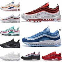 nike air max 97 air 97 97s off white Tennis Shoes Hommes formateurs Sean Wotherspoon Rainbow Throwback Future Designer Star UNDEFEATED-White Womens Sneakers