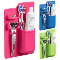 Silikon Bad Organizer Mighty Zahnbürstenhalter Zahnpasta Rasierer Halter Bad Produkte Dusche Liefert freies Verschiffen saugen an