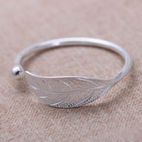 New Product Fashion Jewelry S925 Sterling Silver Leaf Style ...