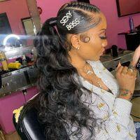 pedazo del pelo rizado rizado 140g Cola de caballo Humano Para Mujeres Negro brasileño de la Virgen del pelo del abrigo del lazo de la cola de caballo de cabello Extensiones de 10-24 pulgadas