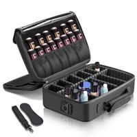 Makeup Train Case 3 Strati Impermeabile Borsa per il trucco da viaggio Cosmetic Organizer Kit Artista Storage Case Brush Holder con Regalabl