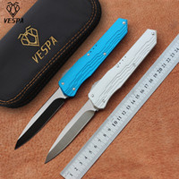 VESPA versione pieghevole coltello lama: D2 Maniglia: 7075Aluminum + TC4, la sopravvivenza di campeggio esterna coltelli strumenti EDC