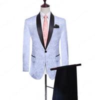 Yeni Groomsmen Şal Yaka Tek Düğme (Ceket + Pantolon + Kravat) Damat smokin Groomsmen Best Man Suit Erkek Düğün Suit 483 damat