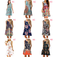 2019 Primavera e Estate Stampa Tube Top Bohemian Dress Ladies Beach Bohemian breve Beach Dress Vintage Maxi vestito di maternità libera la nave AA1979