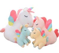 25 / 40cm 귀여운 무지개 유니콘 봉제 완구 사랑스러운 유니콘 인형 동물 말 장난감 인형 어린이 장난감 아기 포옹 장난감 생일 선물