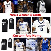 Xavier Musketeers NCAA Kolej Basketbol Formalar Mens Brian Grant Jersey Tyrone Tepesi Trevon Bluiett Sean O'Mara JP Macura Özel Dikişli