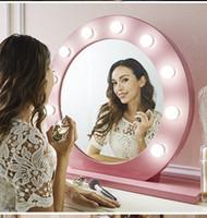 Hot 10 Pcs LED Miroir de maquillage Lumière réglable comestics Miroir Kits d'éclairage avec ampoule Dimmable Lumières Luminosité Make Up lumières