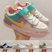 Nike Air Force 1 Shadow Enfants Chaussures Pale Ivory Bébé Baskets 2020 Designer Phantom Triple Blanc Toddler Skateboard Chaussures Taille 26-35