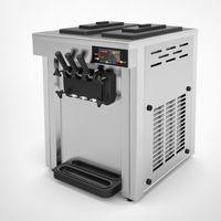 Sıcak satış masa üstü mini yumuşak dondurma otomatı 3 Tatlar Dondurma Yapma 15-20L / H ile yumuşak dondurma makinesi