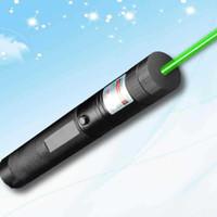 Grüner Laser-Zeiger-Stift einstellbarer Fokus-Lit-Match-Freizeit 303 Keyed Star 22mmx158mm (nicht enthaltener Akku) 20pcs / lot