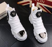 أحذية خريف وشتاء أحذية مارتن الأحذية الثلوج الرجال القطن عالية الرجال التمهيد الشباب التمهيد الكاحل عارضة الجلود الدافئة bootiesV45