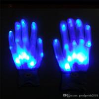 Gants d'éclairage à LED Clignotant Cosplay Cosplay Novelty Gant de la lumière LED Jouet de lumière Article Gants Flash pour Halloween Noël Party