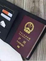 حامل جواز سفر تغطية الموضة النسائية حماية حالة جواز السفر العصرية بطاقة الائتمان رجل محفظة براون المتميز قماش COUVERTURE PASSEPORT