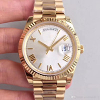 Роскошные мужские часы день дата 40 мм автоматический механический механизм из нержавеющей стали дизайнерские часы Master President мужские наручные часы