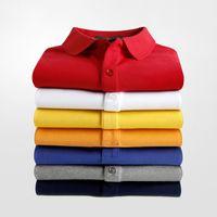 marca Crocodile camisa do homem polo Francês Verão lazer negócio de algodão solta meia manga lapela bordada T-shirt de Paul homens de manga curta