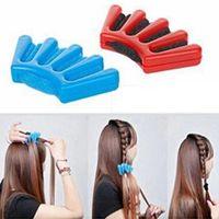Capelli Braider Braid Stylist spugna Accessori Donna Plait Capelli Twist Hair Styling intrecciatura Styling Tools DHL