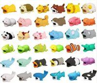 Кабель укус зарядное устройство кабель протектор Смак украшения для iPhone милый дизайн животных зарядки шнур рукав DHL бесплатно