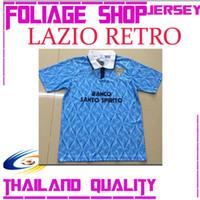 8786cacfc80 New Arrival. Nesta 1991 Lazio Retro Soccer JerseyS 1991 1992 Italy Lazio  RETRO BLUE IMMOBILE SERGEJ LULIC ...