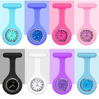 Moda Nurses Watches Doctor Fob Pocket Orologio da tasca in silicone Tunica al quarzo orologio medico infermiera Donne da infermiera orologi con clip Reloj de Bolsello