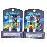 New Moonrock Clear Carts Vape Kartuschen 1.0ml 0.8ML Glastank Keramikspule Dickölzerstäuber Blue Moon Rock 510 Vaporizer AT211