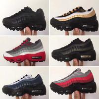 9b4eeaf3874 nike air max 95 Essential Fitness Enfants Chaussures de Course Habanero  Rouge Noir Blanc Wolf Gris