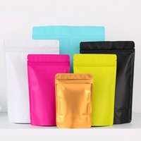 6 цветов 100шт штук закрывающиеся запах доказательство сумки фольга мешок мешок плоский металлический майлар фольга плоский ZipLock мешки для хранения пищевых продуктов мешок смешать цвета