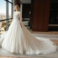 Bescheiden Bruids Baljurk Zie door Trouwjurken 2020 Arabisch Goedkope Custom Made 3D Applicaties Plus Size Engagement Dress 3959 Robe Huwelijk