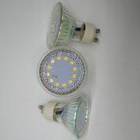 Vente en gros SMD 3W AC230V GU10 LED Lampes Spotlights AC220V ampoule de verre en céramique blanc chaud 3000K 4000K Ra80 Livraison gratuite