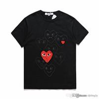 2018 가장 새로운 COM 제일 질 검정 CDG 새로운 남자 Womens des 놀이 1 CDG 빨간 마음 짧은 소매 des 1 t- 셔츠 Vintage 놀이