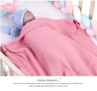 Babydecke Gestrickte Neugeborene Swaddle Wrap Decken Super weiche Kleinkind Säuglingsbettwäsche Quilt für Bett Sofa Basket Kinderwagen Decken