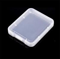 Tarjeta CF Caja de plástico Caja de caja Transparente Tarjeta de memoria estándar MS Funda de almacenamiento de caja blanca para TF Micro XD Caja de tarjeta SD