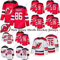 New Jersey Devils Jerseys 86 Jack Hughes 76 Pk Subbanh 9 Taylor Hall 13 Nico Hischier 30 Martin Brodeur Cory Schneider Hockey Jersey